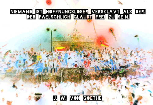 Goethe Zitat Niemand ist hoffnungsloser versklavt